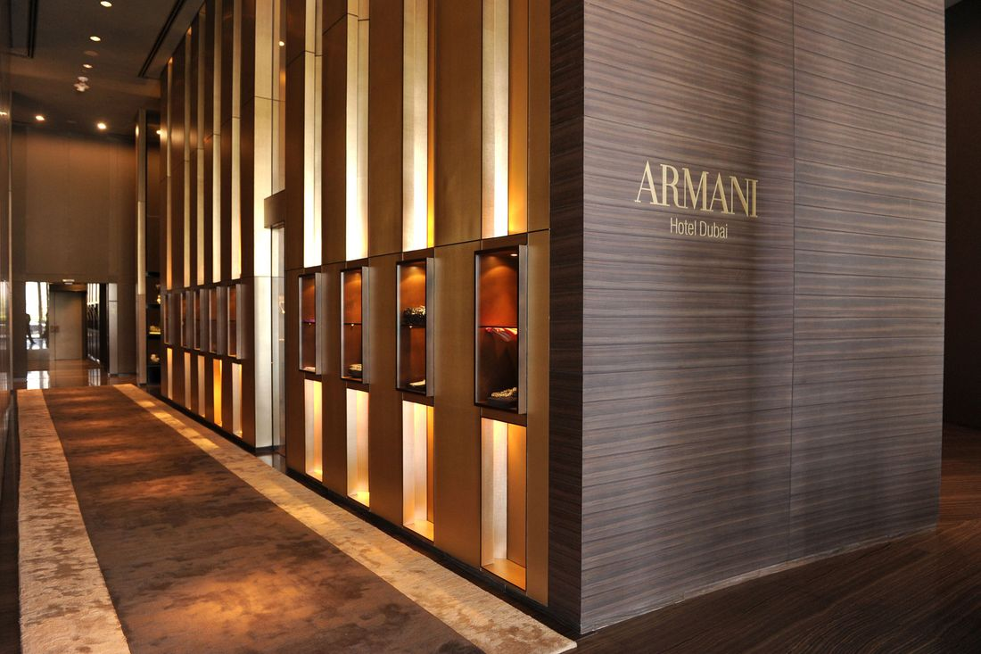 Armani hotel dubai a stay inside the brand s sultry style for Armani hotel dubai design