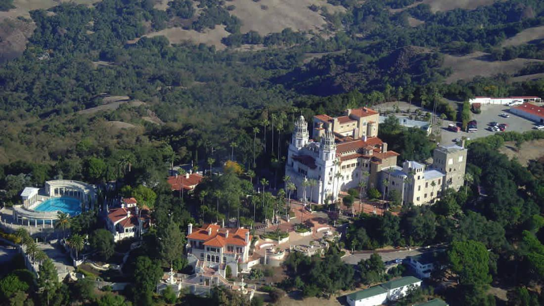 The hearst castle estate for San siemon