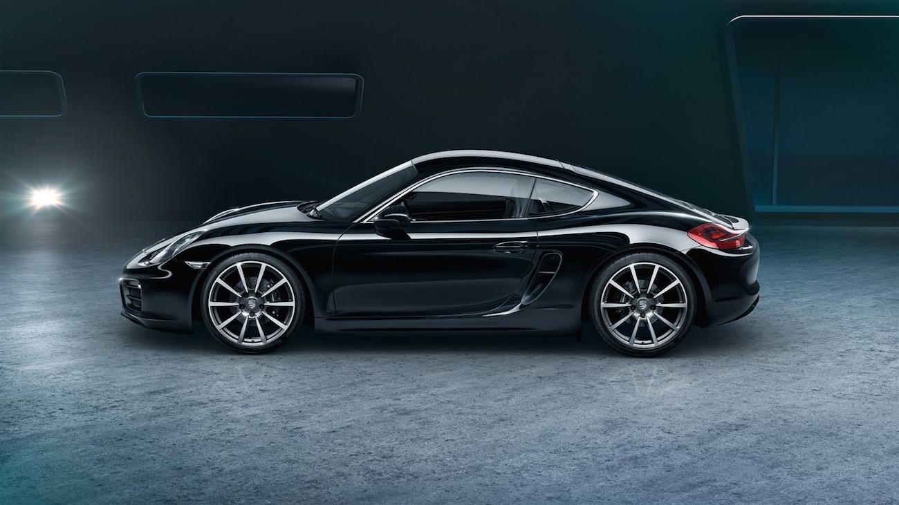 According to its remarkable performances the porsche cayman black