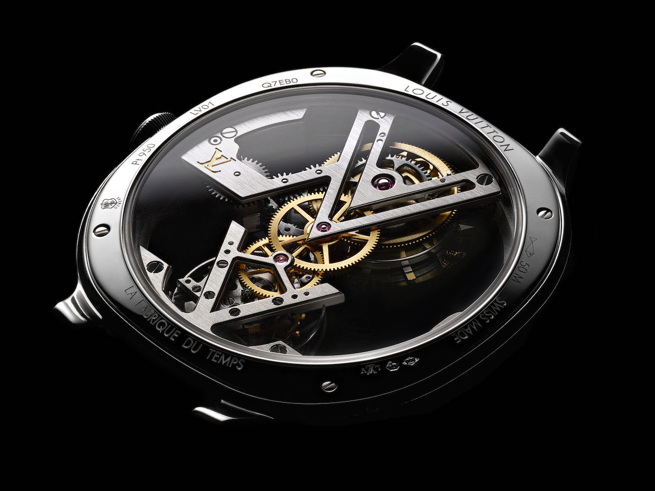 louis vuitton flying tourbillon poin on de gen ve the watch that defies gravity. Black Bedroom Furniture Sets. Home Design Ideas