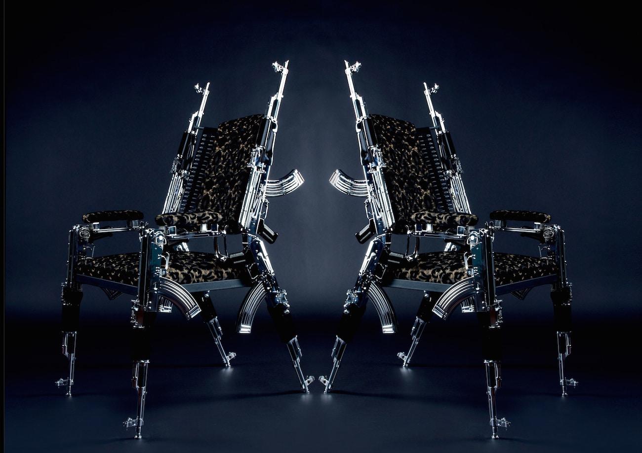 . AK47 Chair  a design seating made with real Kalashnikovs