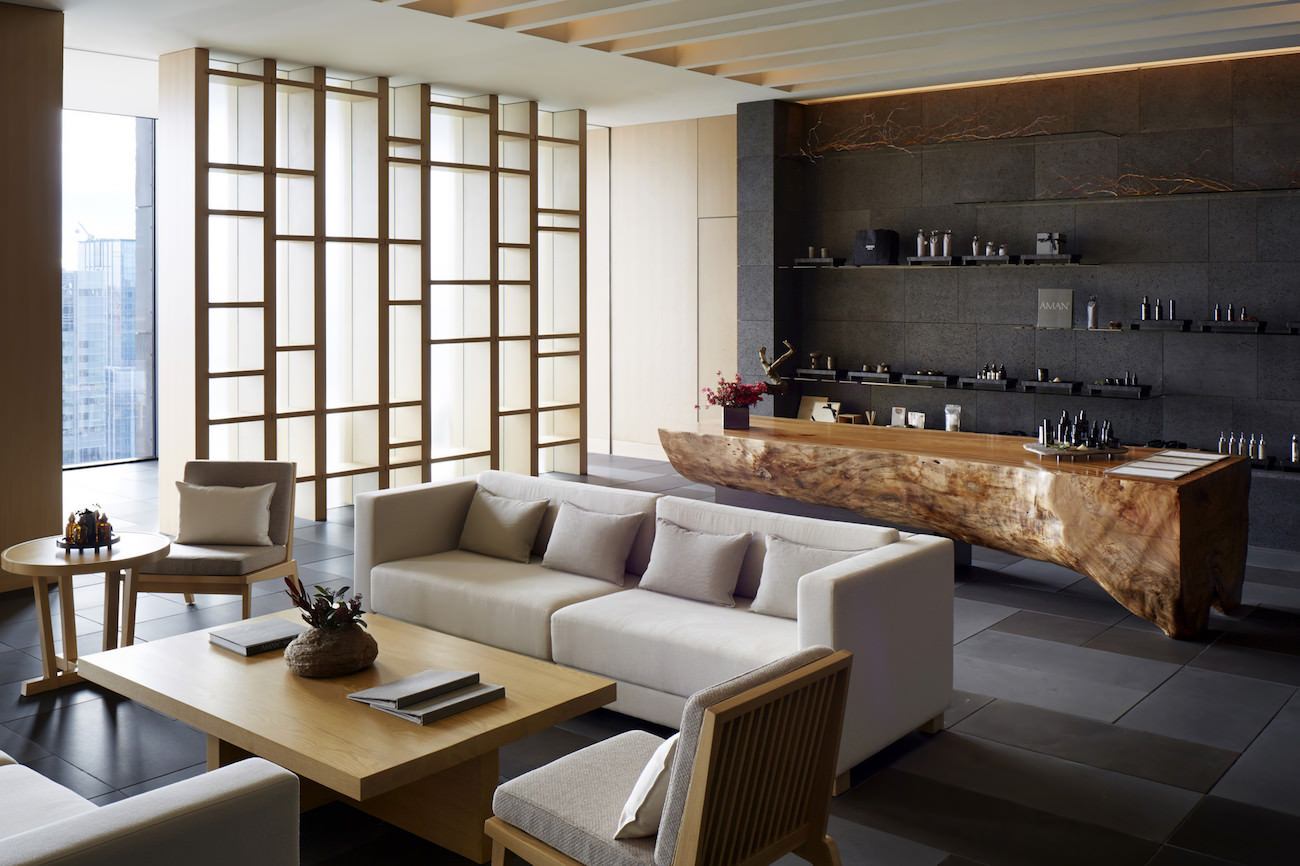 Aman tokyo a haven of peace located into the heart of the for Design hotel japan