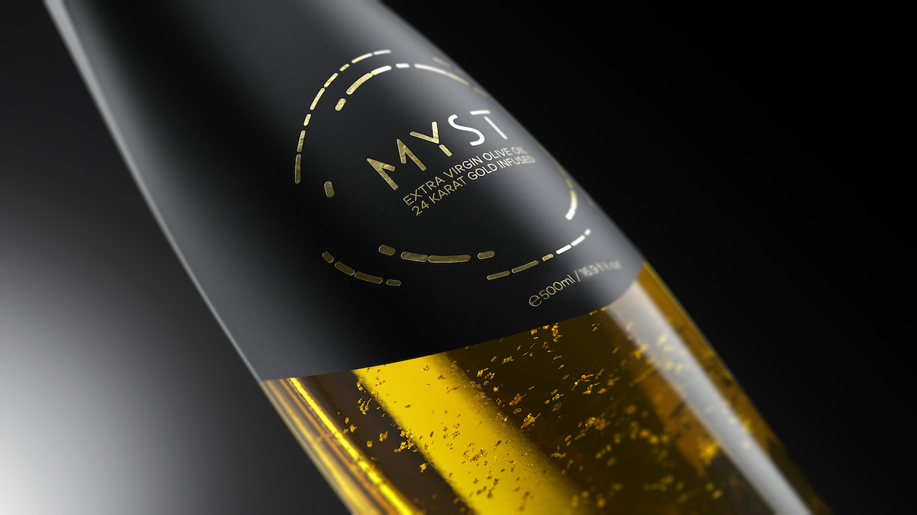 MYST Gold: God's olive oil made with 24 karats gold is coming right in your kitchen