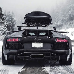 Lamborghini snow travel luxe